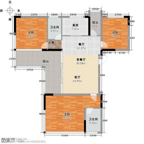 花都颐和山庄3室1厅2卫1厨142.00㎡户型图