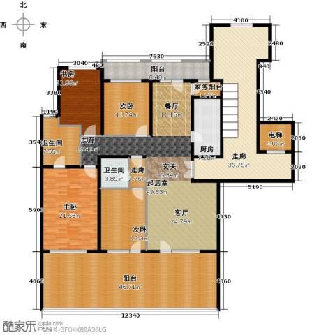 亿城西山华府4室0厅2卫1厨251.65㎡户型图