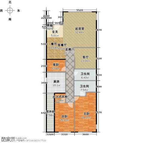 东城逸墅3室1厅2卫1厨196.00㎡户型图