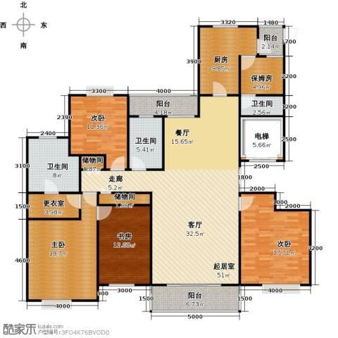 绿地商务城4室0厅3卫1厨226.00㎡户型图