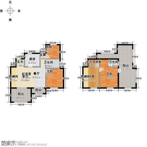 金地湖城艺境4室0厅2卫1厨136.00㎡户型图