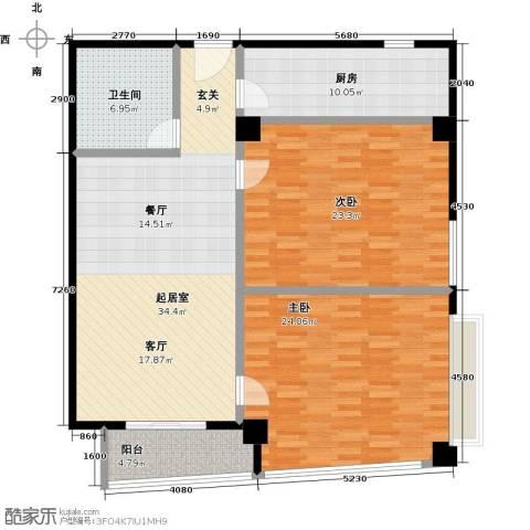 城市之光国际公寓2室0厅1卫1厨144.00㎡户型图