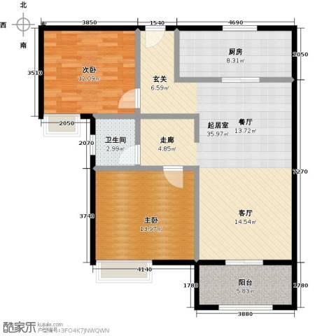 苏宁雅居2室0厅1卫1厨111.00㎡户型图