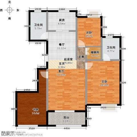 苏宁雅居3室0厅2卫1厨115.00㎡户型图