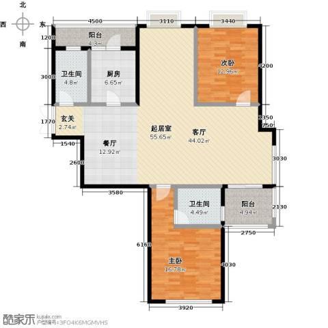 麒麟山庄2室0厅2卫1厨123.00㎡户型图