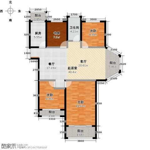 圣联梦溪小镇4室0厅1卫1厨132.00㎡户型图