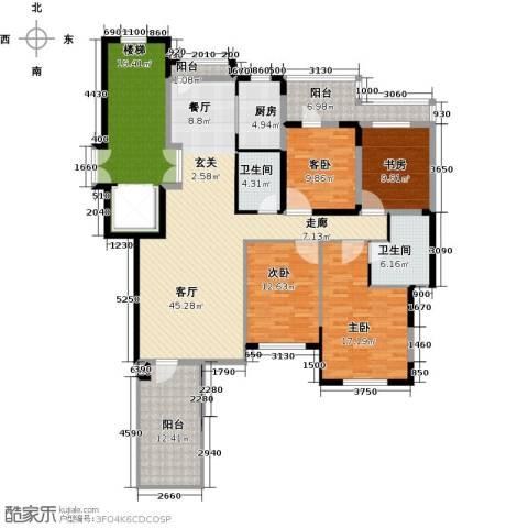 金地锦城4室1厅2卫1厨149.87㎡户型图