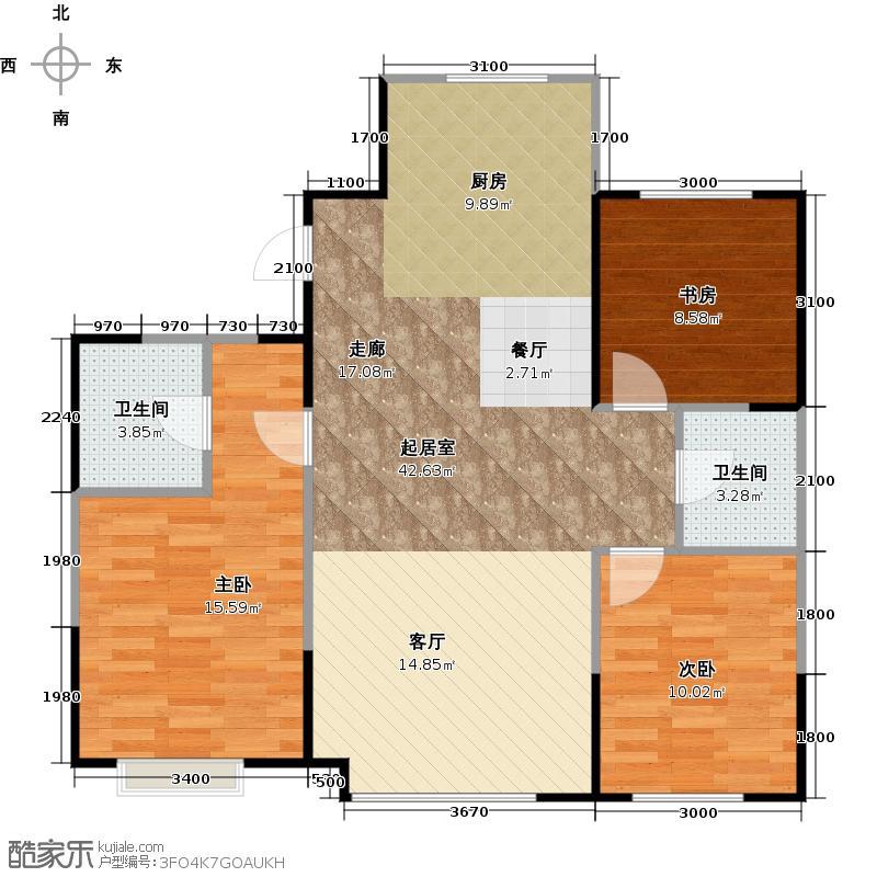 LOHAS上院7号公寓120.17㎡户型3室2卫