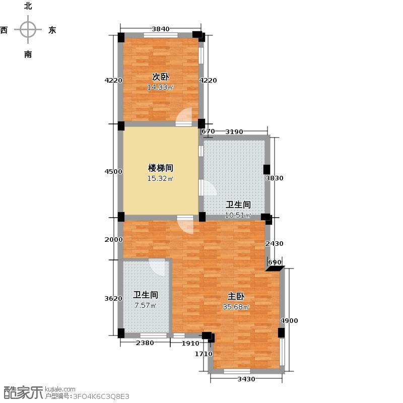 东海闲湖城187.00㎡山坡叠排二层户型10室