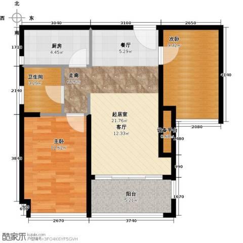 金达锦绣东方2室0厅1卫1厨73.00㎡户型图