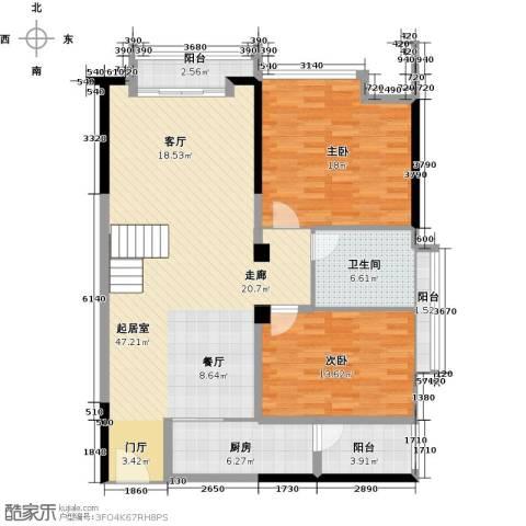 敏捷上品公馆2室0厅1卫1厨111.00㎡户型图