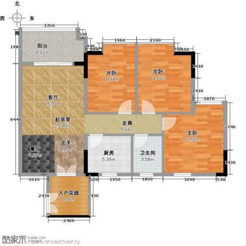 城央御景尚品3室0厅1卫1厨94.00㎡户型图