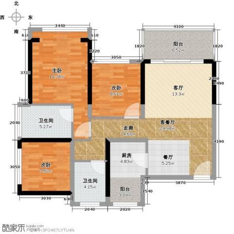 六和城3室1厅2卫0厨120.00㎡户型图