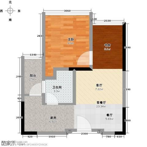 中央财津1室1厅1卫0厨45.00㎡户型图
