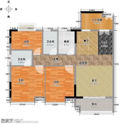 城央御景尚品3室0厅2卫1厨107.00㎡户型图