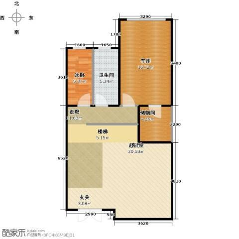 南京绿野仙踪1室0厅1卫0厨94.00㎡户型图