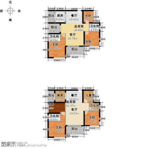 宝翠苑7室0厅4卫2厨268.00㎡户型图