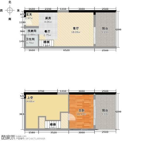 合正东部湾1室1厅1卫0厨111.00㎡户型图