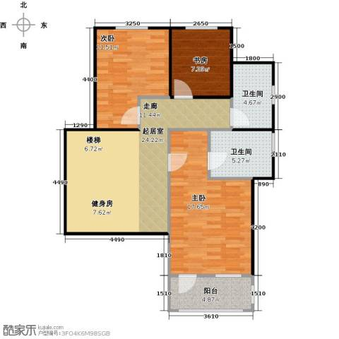 南京绿野仙踪3室0厅2卫0厨102.00㎡户型图