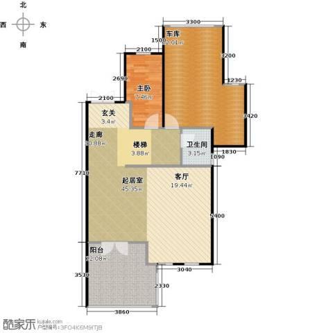 南京绿野仙踪1室0厅1卫0厨120.00㎡户型图