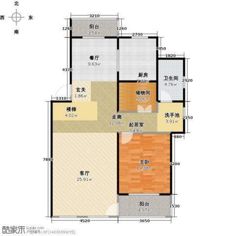 南京绿野仙踪1室0厅1卫1厨127.00㎡户型图