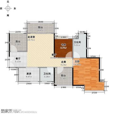 深业东城国际2室0厅2卫1厨79.00㎡户型图