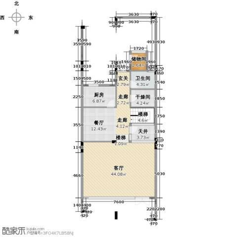 合正东部湾1厅1卫1厨122.00㎡户型图