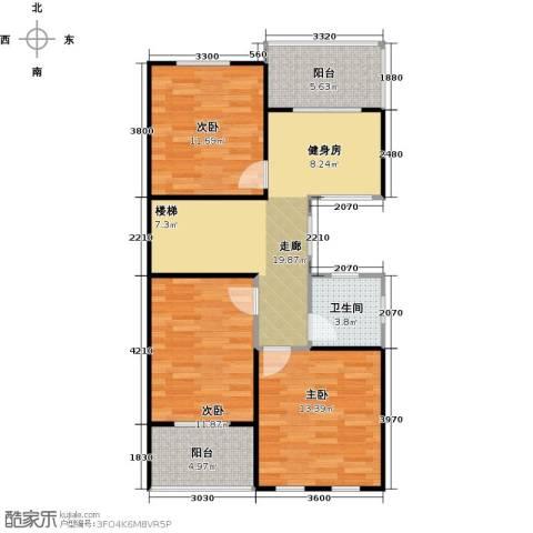 南京绿野仙踪3室0厅1卫0厨96.00㎡户型图