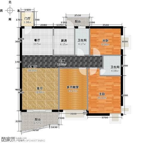 凯悦美景花园2室1厅2卫1厨140.00㎡户型图