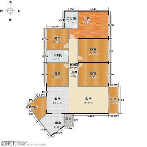 元邦明月金岸1室0厅2卫1厨167.00㎡户型图