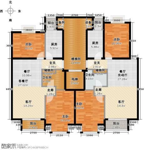 润泽悦溪4室2厅2卫2厨212.00㎡户型图