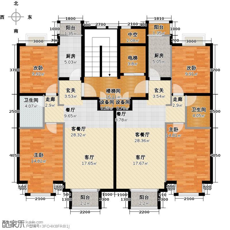 润泽悦溪173.92㎡C户型4室2厅2卫2厨