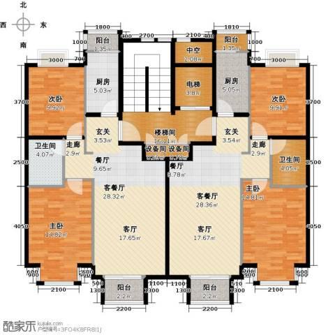 润泽悦溪4室2厅2卫2厨217.00㎡户型图
