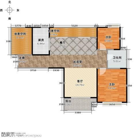 仙林国际花园2室0厅1卫1厨103.00㎡户型图