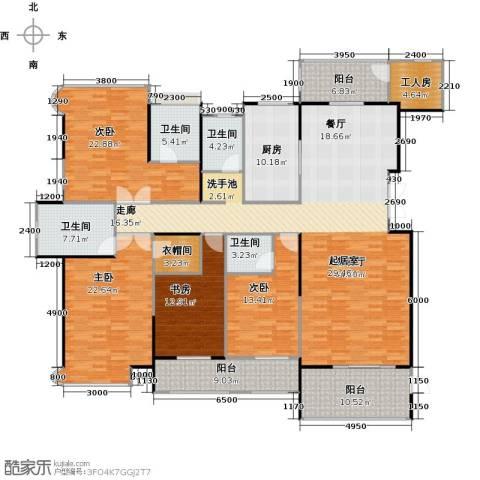 嘉福尚江尊品4室1厅4卫1厨270.00㎡户型图