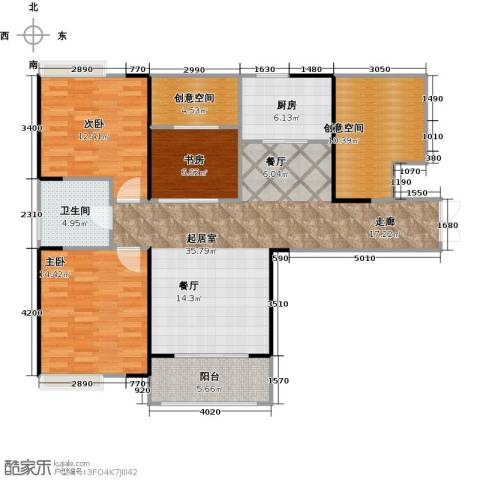 仙林国际花园3室0厅1卫1厨109.00㎡户型图