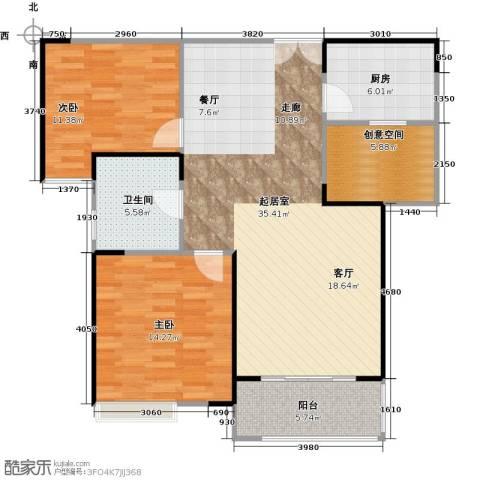 仙林国际花园2室0厅1卫1厨90.00㎡户型图