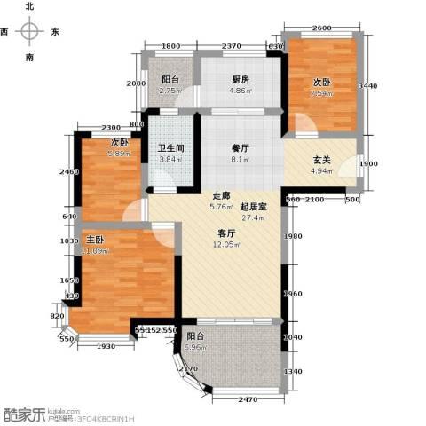 碧桂园凤凰城3室0厅1卫1厨96.00㎡户型图