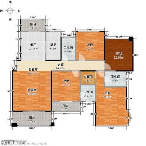 嘉福尚江尊品4室1厅3卫1厨192.00㎡户型图