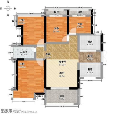 金亨利都荟首府4室1厅1卫1厨89.00㎡户型图