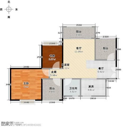 深业东城国际2室0厅1卫1厨73.00㎡户型图