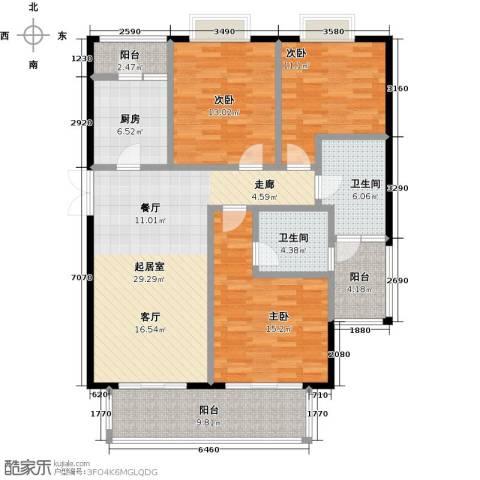 麒麟山庄3室0厅2卫1厨116.00㎡户型图