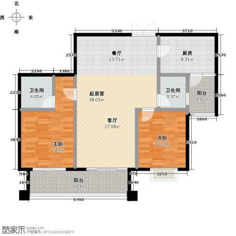 麒麟山庄2室0厅2卫1厨104.00㎡户型图