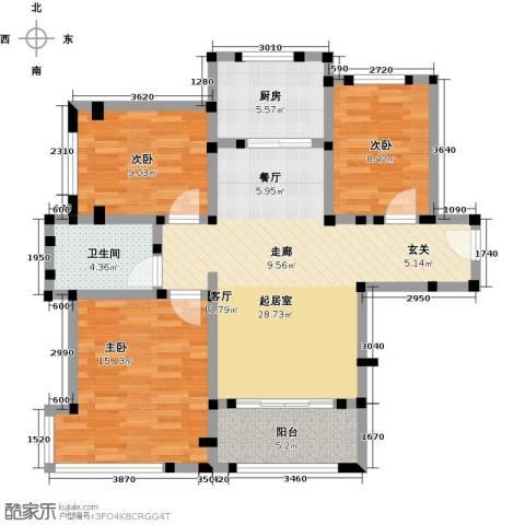 碧桂园凤凰城3室0厅1卫1厨89.00㎡户型图