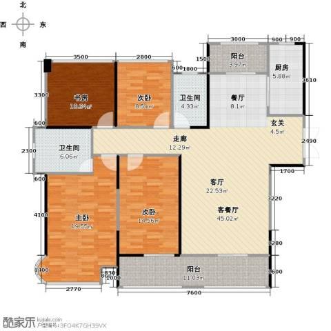 嘉福尚江尊品4室1厅2卫1厨174.00㎡户型图