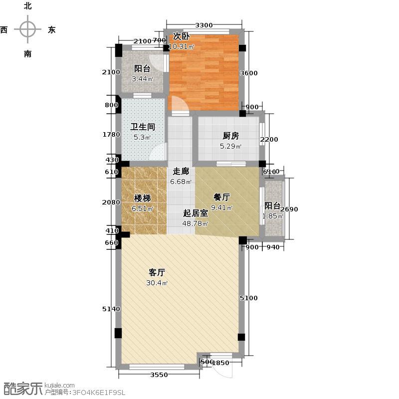 三盛翡俪山283.00㎡E-1层户型1室1卫1厨