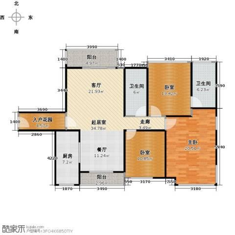 南沙创鸿汇1室0厅2卫1厨127.00㎡户型图