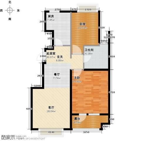 北京城建・琨廷1室0厅1卫1厨85.00㎡户型图