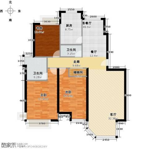 DBC加州小镇3室1厅2卫1厨141.00㎡户型图