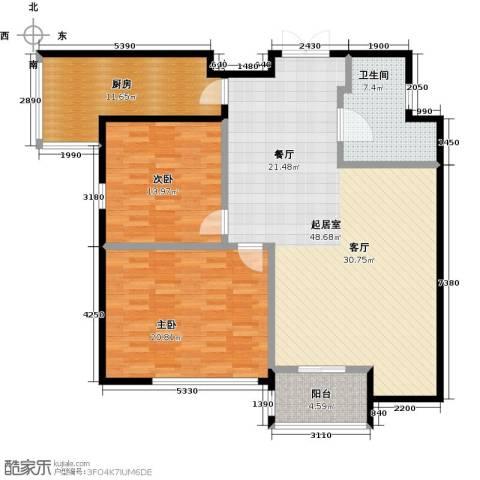 城市之光国际公寓2室0厅1卫1厨148.00㎡户型图